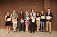 Students who received scholarships in a row