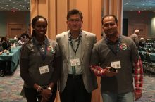 Yewande Marquis, Professor Borinara Park and Hardik Joshi at the IAA Annual Conference