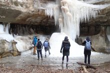 Winter Waterfall Hiking Trip
