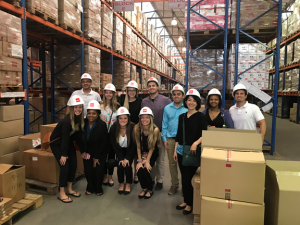 Business and Cultural Experiences in Peru 2017 study abroad trip during company visit.