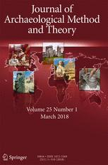 cover of of Journal of Archaeological Method and Theory with a relief map of the world and photos from different continents
