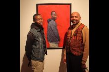 Rick Lewis and one of the student models of the (In)Visible Men series