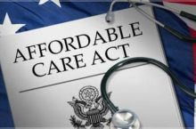 image of an Affordable Care Act document on an American flag