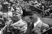 Adolf Hitler and Benito Mussolini in Munich, Germany, ca. June 1940. (Courtesy of Flickr user Marion Doss: https://www.flickr.com/photos/ooocha/2629711091/in/gallery-skorpion3-72157648680388178/)