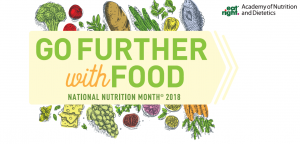 Further with Food National Nutrition Month 2018