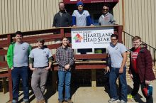 Stevenson Center students and AmeriCorps members volunteered at Heartland Head Start.