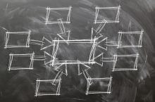 network drawn on chalkboard