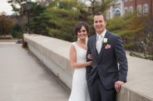 Stefani Rudd and Bryan Concannon in wedding attire at Illinois State