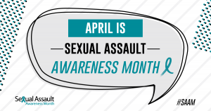 Sexual Assault Awareness Month 2018 logo