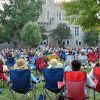Image of people enjoying a concert as part of the Concerts on the Quad series