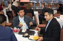 Students at International Career Series event.