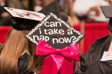 graduation cap with funny saying
