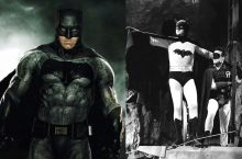 men in bat costumes from the 2010s and the 1940s.