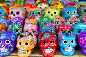 Mexican Day of the Dead colorful handcrafts