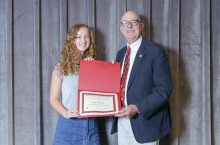 Scholarship winner and donor