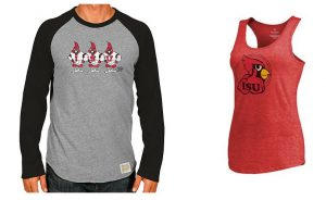 Two examples of College Vault shirts