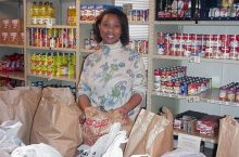 Pat Turner at the Center for Hope Outreach Programs prior to completing her master's in 2006.