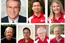 photos of seven different faculty members from Health Sciences