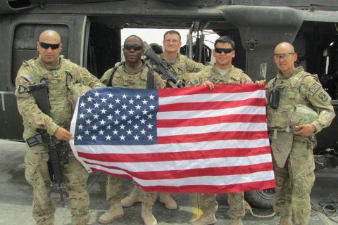 Col. David Rabb was deployed on military missions that took him to Iraq and Afghanistan. He and members of his unit paused for a group shot before heading to Afghanistan in 2011.