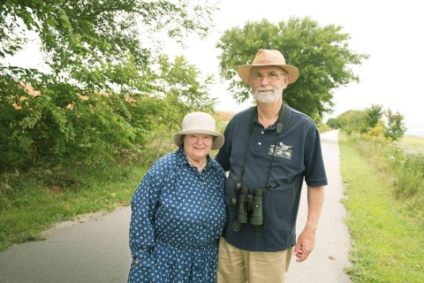 Professor Emeritus Charles Thompson and wife Karen