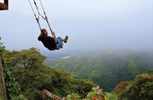 Dylan Brown swinging during his trip to South America.