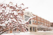 Schroeder Hall in winter