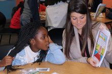ISU student working with Unity youth