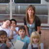 Hannah with kids