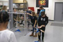 Metcalf students study wind energy.