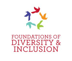 Logo with the words Foundations of Diversity and Inclusion under birds flying in a circle.