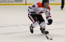 Redbird Hockey player