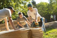 Students began construction of the home at the beginning of the fall semester.