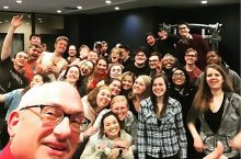 Group photo of the students and faculty from the School of Theatre and Dance who went to KCACTF.