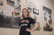 History-social sciences education major Sara Koziol