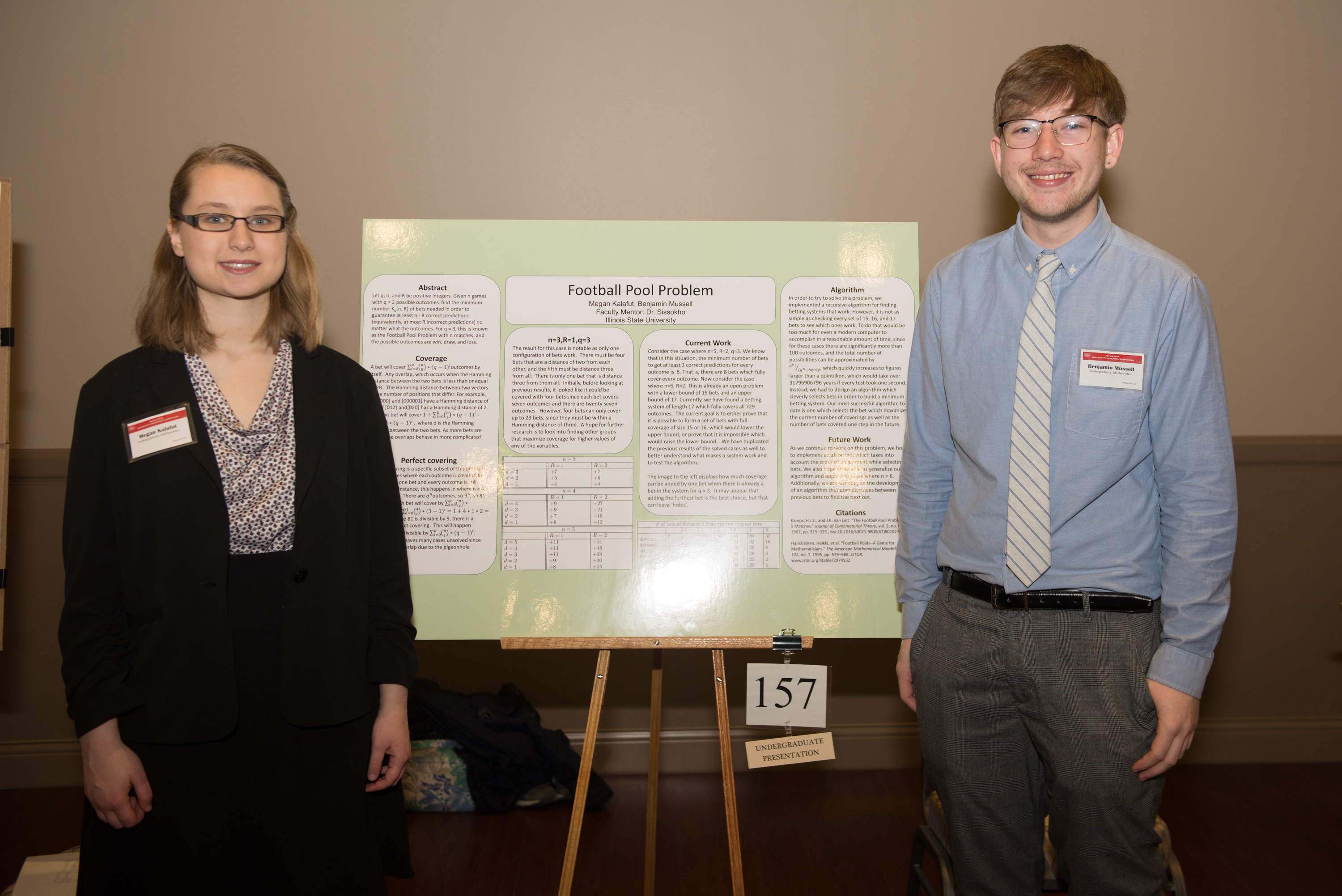 Megan Kalafut and Benjamin Mussell at the Research Symposium