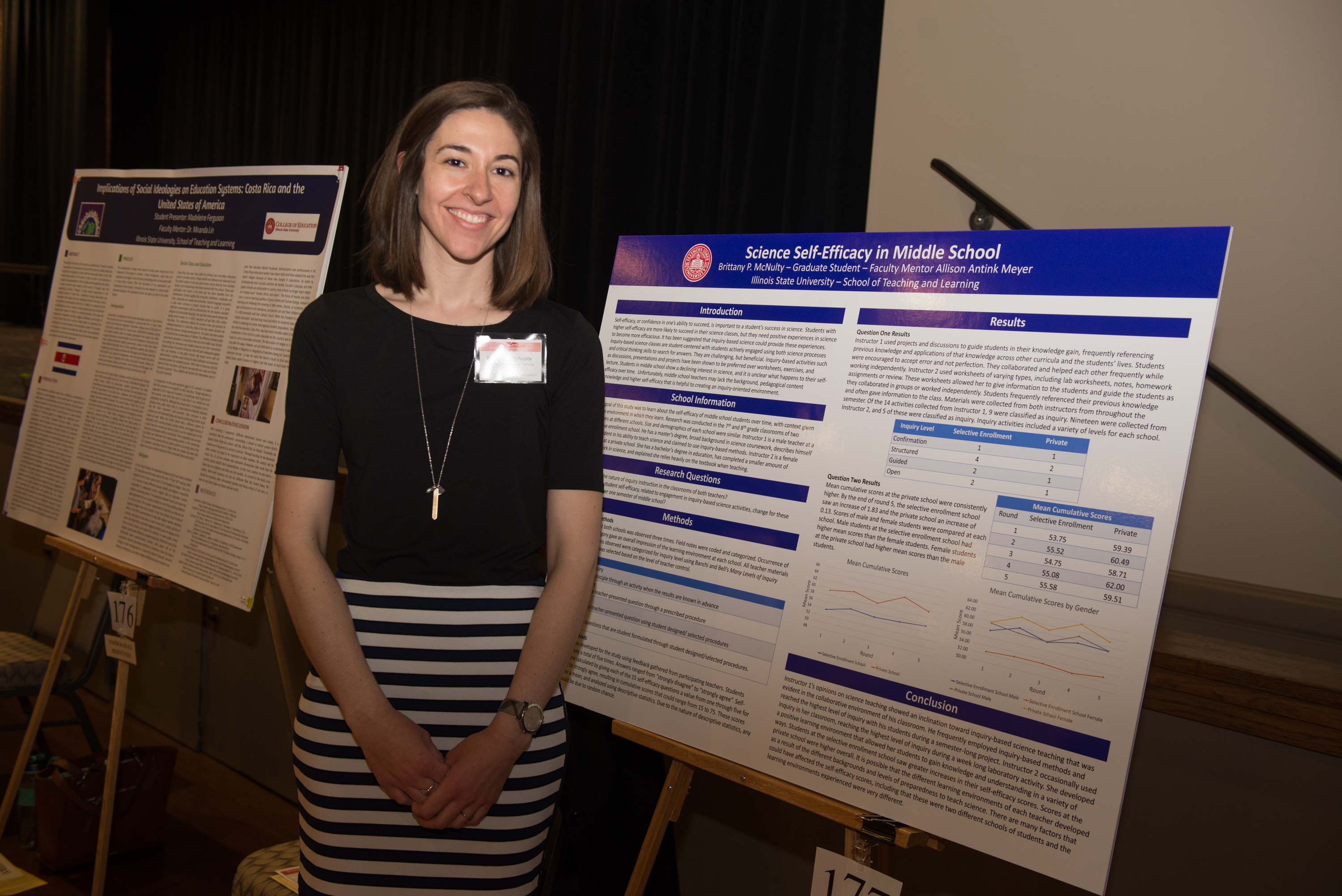 Brittany McNulty at the Research Symposium