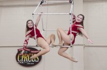 Twins Jenika (left) and Jacinda Smith have brought their special bond to Gamma Phi Circus.