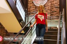 Student on stairs in Illinois State Office of Admissions