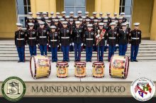 Photo of the Marine Band San Diego personnel