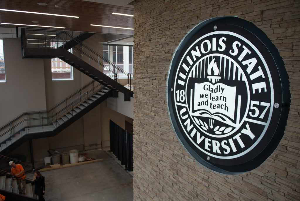Illinois State seal in Bone Student Center.