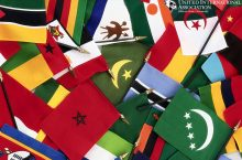 small flags from many nations