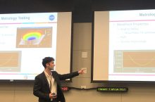 ISU Physics student Zachary Temple presents research from his internship at NASA.