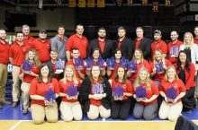 ISU agriculture students holding up their awards from the NACTA competition