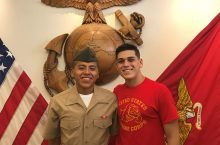 Student Brandon Medrano (featured on the right)