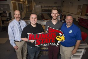 Illinois State has been an important part of CHSI from the beginning of the program: Here are a few current CHSI leaders: Illinois State Professor Chris Merrill (left), Illinois State students Blake Whittle and Thomas Moore, and CHSI Director Paul Ritter