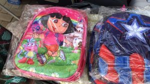 Backpacks for young students in Ghana.