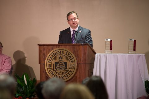 Dan Wagner giving a speech