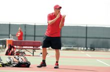 Redbird tennis coach Mark Klysner