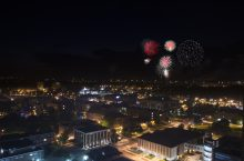 Fireworks at ISU campus.