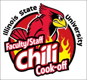 Redbird with the Faculty-Staff Chili Cook_off logo